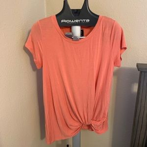 Peach Knot Front Tee